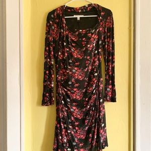 MNG by Mango Long Sleeved Floral Print Dre…